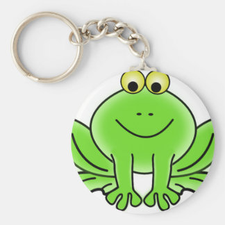 Cute Funny Frog Basic Round Button Key Ring