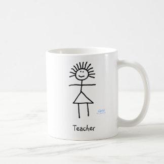 Cute Funny Generic Teacher Stick Figure Cartoon Coffee Mug