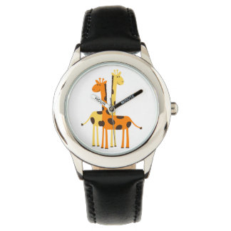 Cute Funny Giraffe Pair Wristwatches