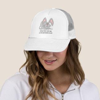 Cute Funny Gray Hair Grey Hare Cartoon Birthday Trucker Hat
