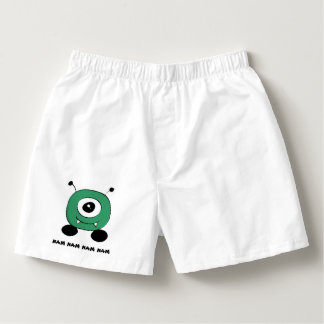 Cute Funny Green Alien Boxers