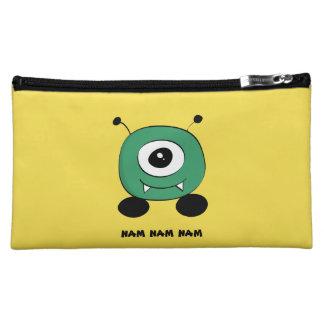 Cute Funny Green Alien Cosmetic Bag
