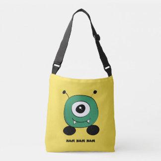 Cute Funny Green Alien Crossbody Bag