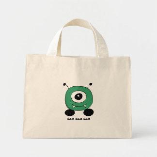 Cute Funny Green Alien Mini Tote Bag
