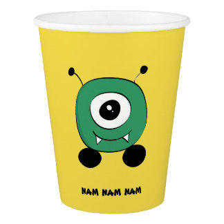 Cute Funny Green Alien Paper Cup