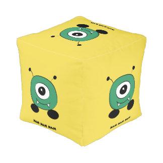 Cute Funny Green Alien Pouf