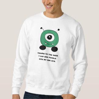 Cute Funny Green Alien Sweatshirt