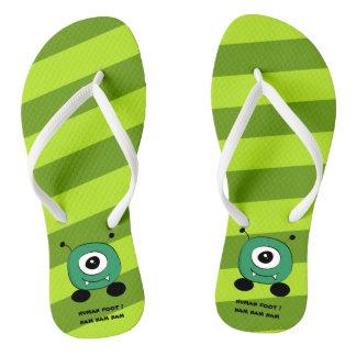 Cute Funny Green Alien Thongs