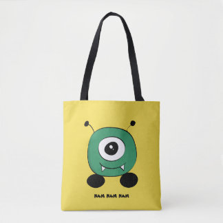 Cute Funny Green Alien Tote Bag