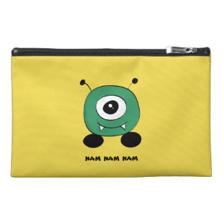Cute Funny Green Alien Travel Accessories Bag