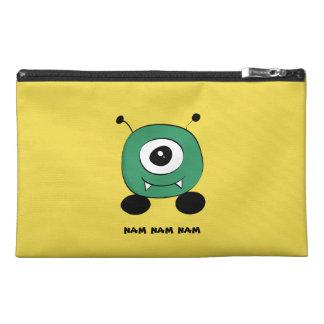 Cute Funny Green Alien Travel Accessory Bag