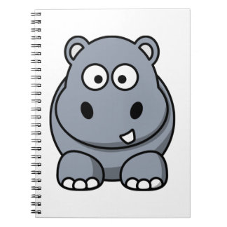 Cute Funny Hippo Spiral Notebook