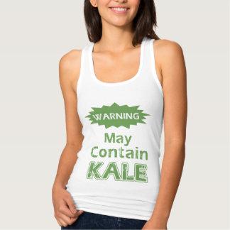 Cute Funny Kale Womens Slim Racerback Tank Top
