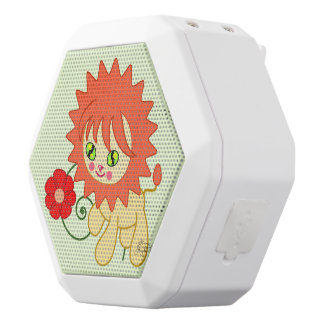 Cute Funny Lion White Boombot Rex Bluetooth Speaker
