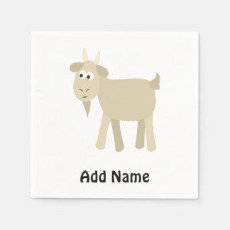 Cute Funny Little Goat Disposable Serviettes
