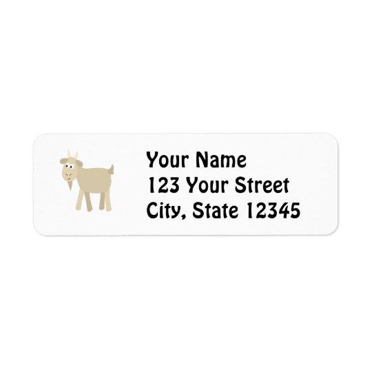 Cute Funny Little Goat Return Address Label