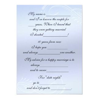 Cute, Funny Marriage Advice for Bride & Groom 14 Cm X 19 Cm Invitation Card