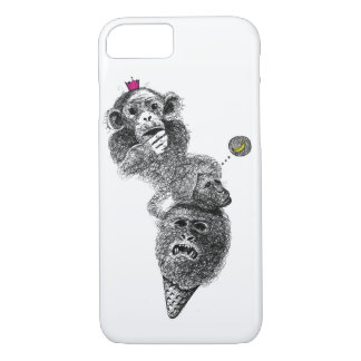Cute Funny monkey ice-cream Case