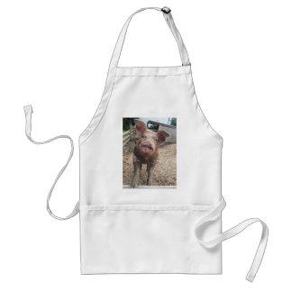 Cute, funny muddy pig apron