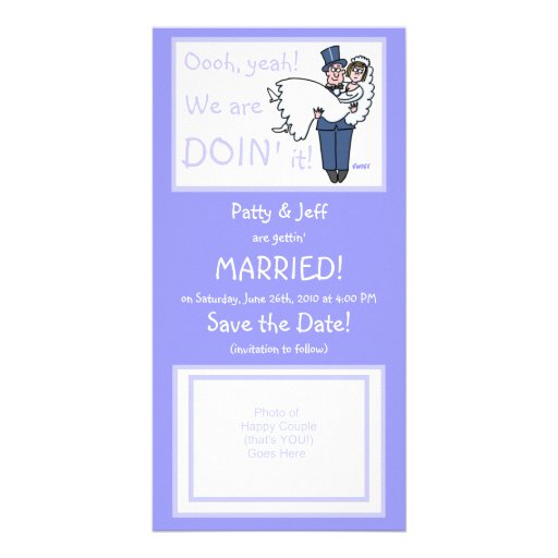 Cute Funny Offbeat Save-The-Date Photo Card