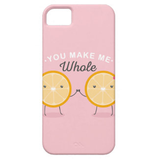 Cute funny orange halves You make me whole Barely There iPhone 5 Case