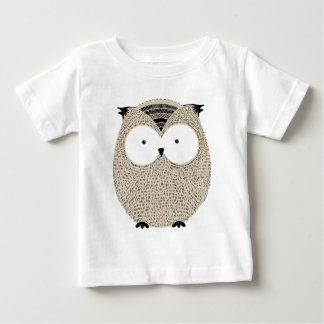 Cute funny owl sketchy illustration baby T-Shirt