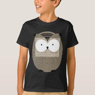Cute funny owl sketchy illustration T-Shirt