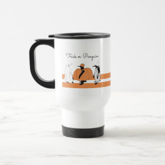 Cute Funny Penguin Animal Halloween Personalised Travel Mug