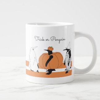 Cute Funny Penguin Animal Halloween Personalized Large Coffee Mug