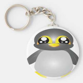 cute funny penguin animal key ring