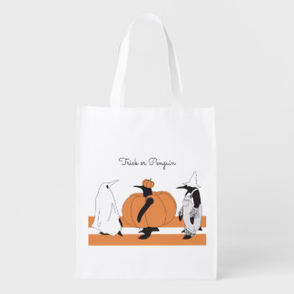 Cute Funny Penguin Halloween Personalised Reusable Grocery Bag