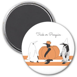 Cute Funny Penguin Halloween Personalized 7.5 Cm Round Magnet