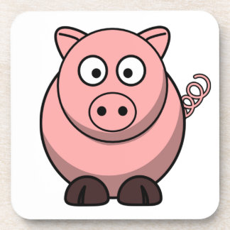 Cute Funny Pig Drink Coaster