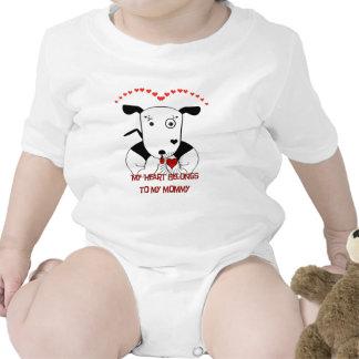 Cute Funny Puppy Dog Valentine's Day Baby T-shirts Bodysuit