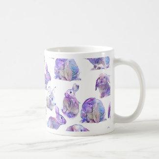 Cute funny rabbits coffee mug