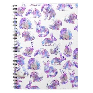 Cute funny rabbits notebook