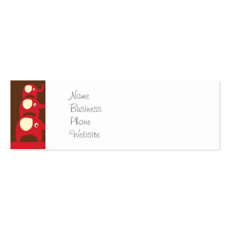Cute Funny Red Elephants Stacked on Top of Each Ot Pack Of Skinny Business Cards