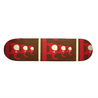 Cute Funny Red Elephants Stacked on Top of Each Ot Skate Decks