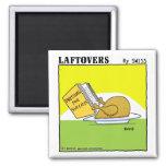 Cute Funny Roast Turkey Laftovers Cartoon Square Magnet