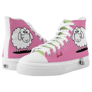 Cute Funny Sheep Printed Shoes