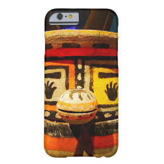 Cute, funny, silly, carved wood kachina face photo barely there iPhone 6 case