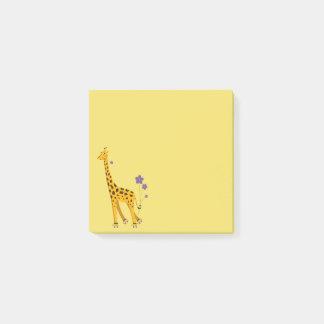 Cute Funny Skating Cartoon Giraffe Post-it Notes