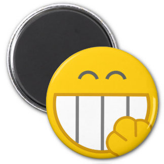 Cute Funny Smiley Face Locker Magnet