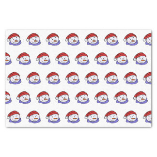 Cute Funny Snowman Drawing | Christmas Pattern Tissue Paper