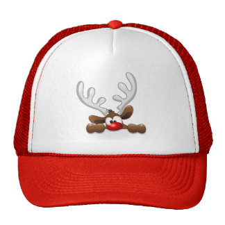 Cute Funny The Red Nosed Reindeer Hats