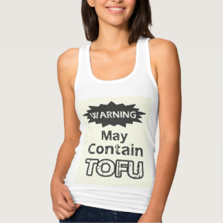 Cute Funny Tofu Womens Slim Fit Racerback Tank Top