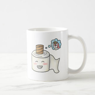 Cute Funny Toilet Paper Dreaming Unicorn Mugs