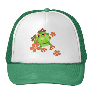 Cute Funny Tree Frog Mesh Hat