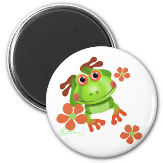 Cute Funny Tree Frog Refrigerator Magnet