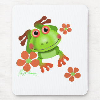 Cute Funny Tree Frog Mousepads